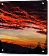 Dawn Over Big Spruce Knob Acrylic Print
