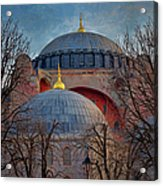 Dawn Over Hagia Sophia Acrylic Print by Joan Carroll