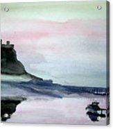 Dawn Over Lindisfarne. Acrylic Print