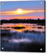Dawn Over The Salt Marsh Acrylic Print