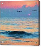 Dawn Patrol Acrylic Print by JC Findley