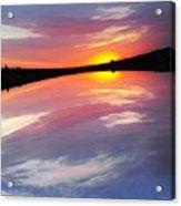 Dawn Sky And Water Acrylic Print