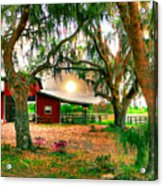 Dawning At The Barn Acrylic Print