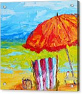 Day At The Beach - Modern Impressionist Knife Palette Oil Painting Acrylic Print
