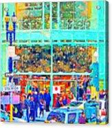 Day Before Christmas At Neiman Marcus . Photoart Acrylic Print