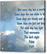 Day Light Acrylic Print by Leona Atkinson