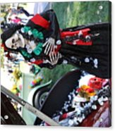 Day Of The Dead Car Trunk Skeleton  Acrylic Print