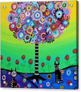 Day Of The Dead Cat'slife Acrylic Print