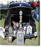 Day Of The Dead Classic Car Trunk Display  Acrylic Print