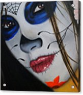 Day Of The Dead Girl Acrylic Print by Alex Rios