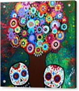 Day Of The Dead Love Offering Acrylic Print
