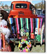Day Of The Dead Truck Decorations  Acrylic Print