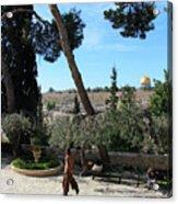 Day Walk In Jerusalem Acrylic Print