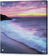 Daybreak At Caswell Bay Acrylic Print