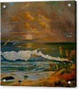 Daybreak On The Dunes Acrylic Print