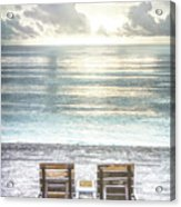 Daydreaming By The Sea In Watercolors Acrylic Print