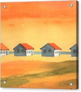 Days Cottages Acrylic Print