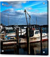 Days End At The Dock Acrylic Print