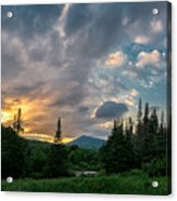 Days End In The Bog Acrylic Print
