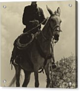 Days Of Old Miss Aleto And The Cowboy Acrylic Print