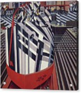 Dazzle Ships In Drydock At Liverpool Acrylic Print