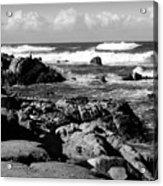 Dazzling Monterey Bay B And W Acrylic Print
