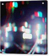 Dc Lights - Use Red-cyan 3d Glasses Acrylic Print