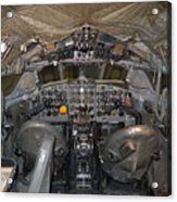 De Havilland Dh106 Comet 4 G Apdb Cockpit Full Size Poster Acrylic Print
