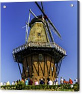De Zwaan Windmill In Holland Acrylic Print