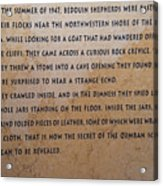 Dead Sea Scroll Document Acrylic Print