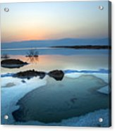 Dead Sea Shallow Waters At Dawn Acrylic Print