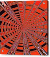 Dead Tree Oval #1 Abstract Acrylic Print