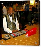 Dealer In Las Vegas Casino Acrylic Print