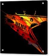 Dean Razorback - 7 String Guitar Acrylic Print