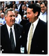 Dean Smith And Mike Krzyzewski Acrylic Print