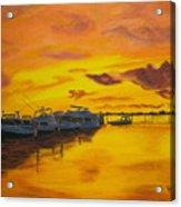Deans Sunset Acrylic Print