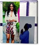 Black Love Matters Acrylic Print
