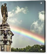 Death And A Rainbow Acrylic Print