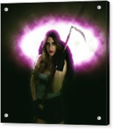 Death Carrying Scythe Acrylic Print