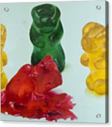 Death Of A Gummy Bear II Acrylic Print