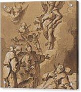 Death Of A Holy Friar Acrylic Print