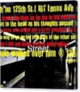Death On 125th St. Irt Lenox Ave Line Acrylic Print
