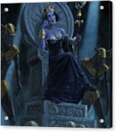 Death Queen On Throne With Skulls Acrylic Print