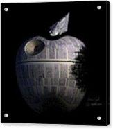 Death Star Apple Acrylic Print