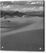 Death Valley Dunes Black And White Acrylic Print