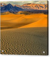 Death Valley Golden Hour Acrylic Print