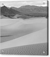 Death Valley Panoramic Sand Dunes Acrylic Print