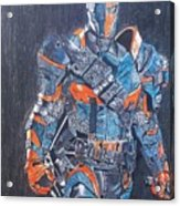 Deathstroke Illustration Art Acrylic Print