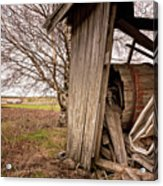 Debris In An Old Barn Acrylic Print
