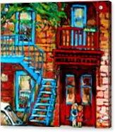 Debullion Street Neighbors Acrylic Print